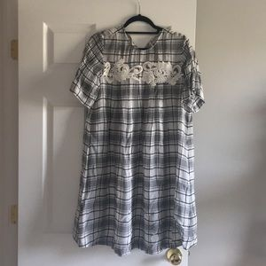Loft plaid dress